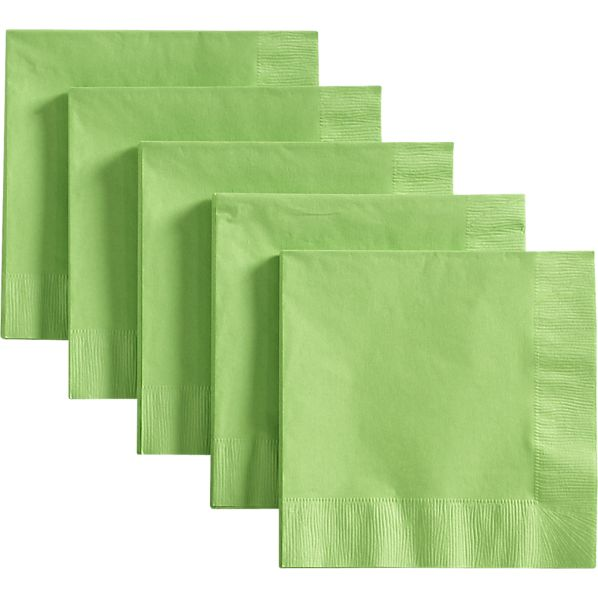Set of 50 Lime Lunch Napkins