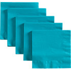 Set of 50 teal lunch napkins.