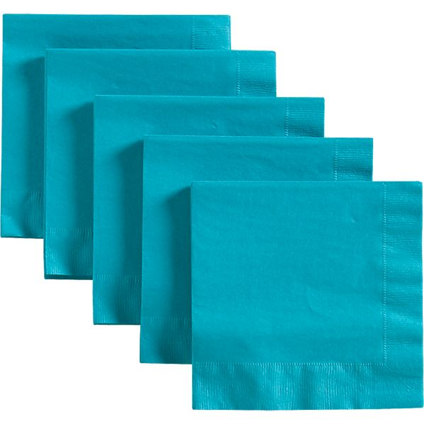 Set of 50 Teal Lunch Napkins