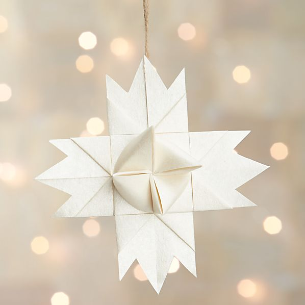 Paper Origami Star Ornament