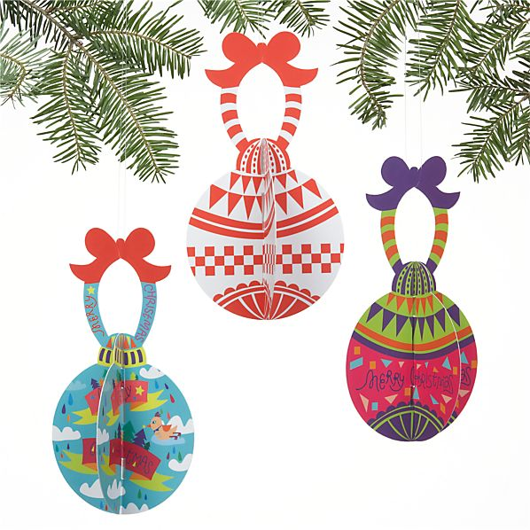Set of 3 Paper Ornaments