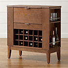 """Parker Spirits Bourbon Cabinet.  (45.5""""Wx16""""Dx37.25""""H with leaves open);"""