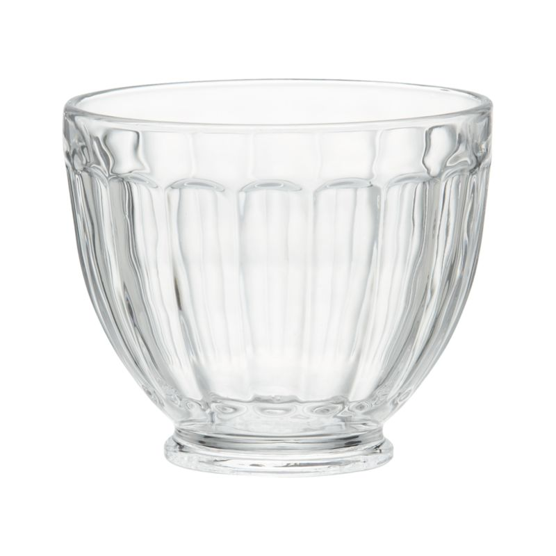 Unabashedly old-time looks put the social in serving ice cream. Everyone's favorite frozen treat gets star treatment in jelly-jar fluted bowl crafted of molded glass. Also great for candies or nuts.<br /><br /><NEWTAG/><ul><li>Glass</li><li>Dishwasher- and freezer-safe</li><li>Made in China</li></ul>