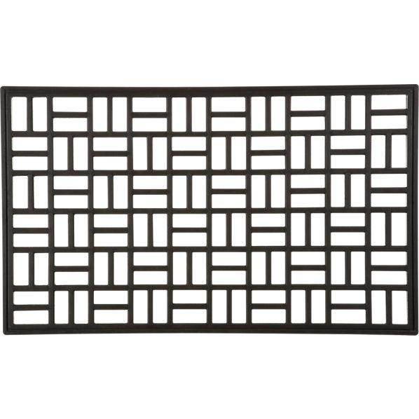 """Parquet Rubber 30""""x18"""" Doormat"""