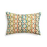 "Parra 18""x12"" Pillow with Feather-Down Insert"