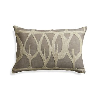 "Parrado Natural 20""x13"" Pillow with Feather-Down Insert"