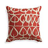 "Parrado Orange 20"" Pillow with Feather Insert"