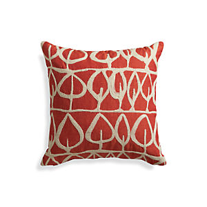 "Parrado Orange 20"" Pillow with Down-Alternative Insert"