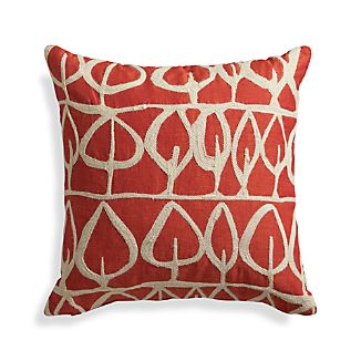 "Parrado Orange 20"" Pillow with Down-Alternative Insert"
