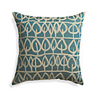 Parrado Teal Pillow with Down-Alternative Insert.