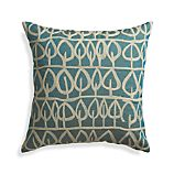 "Parrado Teal 23"" Pillow with Feather Insert"