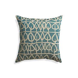 Parrado Teal Pillow with Down-Alternative Insert