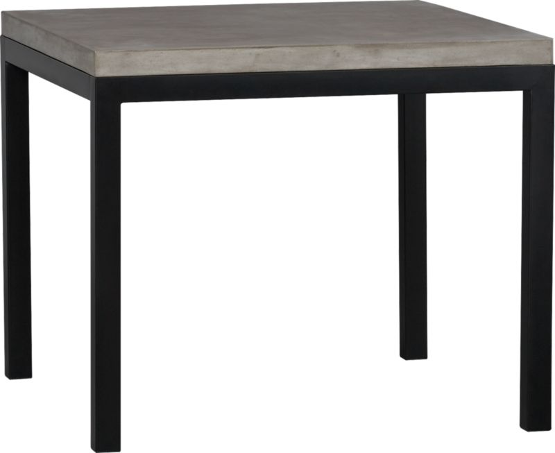 Start with a great base. Top it off with an eye-catching top. Voila—the perfect table. Hot-rolled steel frame supports with clean simple lines, hand-welded and ground at each corner to create a raw, torched millscale finish. Gorgeous warm grey concrete top mixes up a global compound sourced in Vietnam—marble, stone and granite from the mountainous Dalat region and grassy fibers from the Mekong Delta for added strength. Clean and modern material is also eco-friendly, handmade in shops powered without fossil fuels. Due to the handmade nature of the concrete mix, color will vary and may change over time. Seats four.<br /><br /><NEWTAG/><ul><li>Cut and welded natural dark tubular steel with torched millscale finish at corners</li><li>Clear powdercoat finish on base</li><li>Handmade concrete of stone, marble, granite and natural fibers</li><li>Eco-friendly manufacture</li><li>Seats four</li><li>Do not leave spills unattended</li><li>Wipe with damp cloth and dry</li><li>For indoor use only</li><li>Made in China</li></ul>