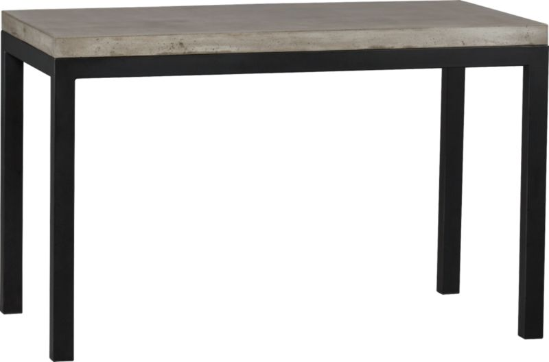 Start with a great base. Top it off with an eye-catching top. Voila—the perfect table. Hot-rolled steel frame supports with clean simple lines, hand-welded and ground at each corner to create a raw, torched millscale finish. Gorgeous warm grey concrete top mixes up a global compound sourced in Vietnam—marble, stone and granite from the mountainous Dalat region and grassy fibers from the Mekong Delta for added strength. Clean and modern material is also eco-friendly, handmade in shops powered without fossil fuels. Due to the handmade nature of the concrete mix, color will vary and may change over time. Seats four.<br /><br /><NEWTAG/><ul><li>Cut and welded natural dark tubular steel with torched millscale finish at corners</li><li>Clear powdercoat finish on base</li><li>Handmade concrete of stone, marble, granite and natural fibers</li><li>Eco-friendly manufacture</li><li>Seats four</li><li>Do not leave spills unattended</li><li>Wipe with damp cloth and dry</li><li>For indoor use only</li><li>Made in Vietnam</li></ul>