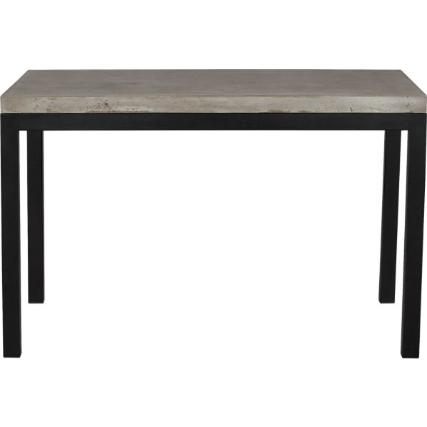 Parsons Concrete Top 48x28 Dining Table with Natural Dark Steel Base