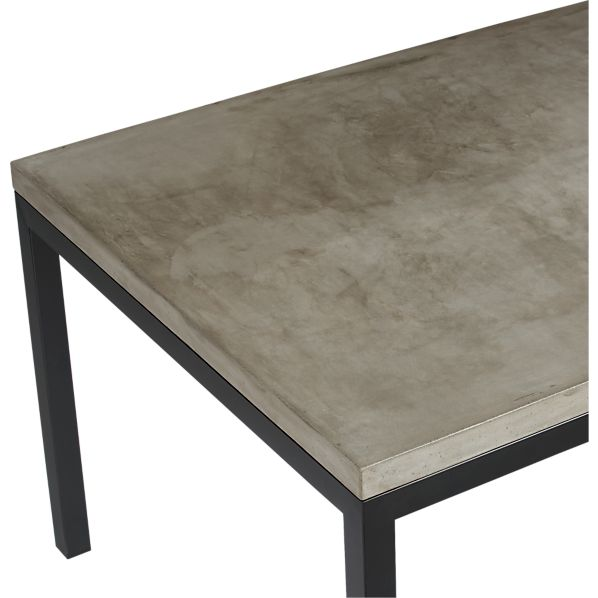 Concrete Top Natural Dark Steel Base Parsons Dining  : parsons concrete top dining tables with natural dark steel base from www.crateandbarrel.com size 598 x 598 jpeg 28kB
