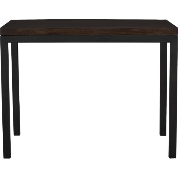Parsons Myrtle Top High Dining Table with Natural Dark Steel Base