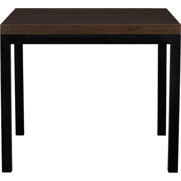"Parsons Myrtle Top 36"" Sq. Dining Table with Natural Dark Steel Base"