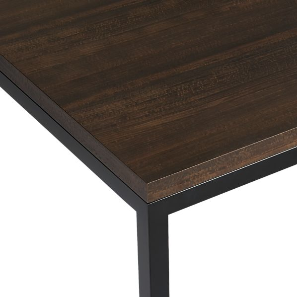 Myrtle Top/ Natural Dark Steel Base Parsons Dining Tables
