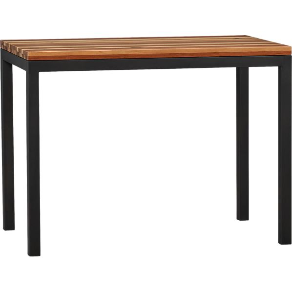 Parsons Reclaimed Wood Top 48x28 High Dining Table with Natural Dark Steel Base