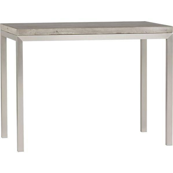 Parsons Concrete Top High Dining Table with Stainless Steel Base