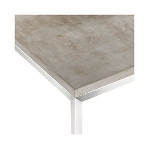 Concrete Top/ Stainless Steel Base Parsons Dining Tables