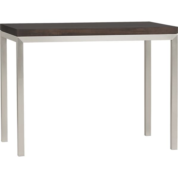 Parsons Myrtle Top High Dining Table with Stainless Steel Base