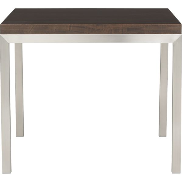 "Parsons Myrtle Top 36"" Sq. Dining Table with Stainless Steel Base"