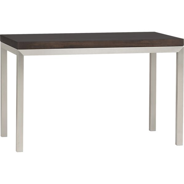 Parsons Myrtle Top 48x28 Dining Table with Stainless Steel Base