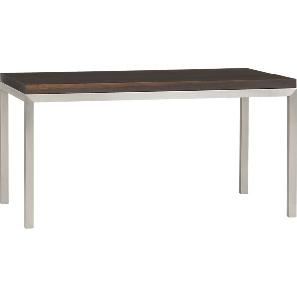 Parsons Myrtle Top 60x36 Dining Table with Stainless Steel Base