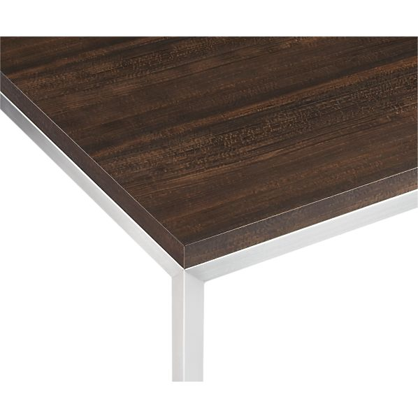 Myrtle Top/ Stainless Steel Base Parsons Dining Tables