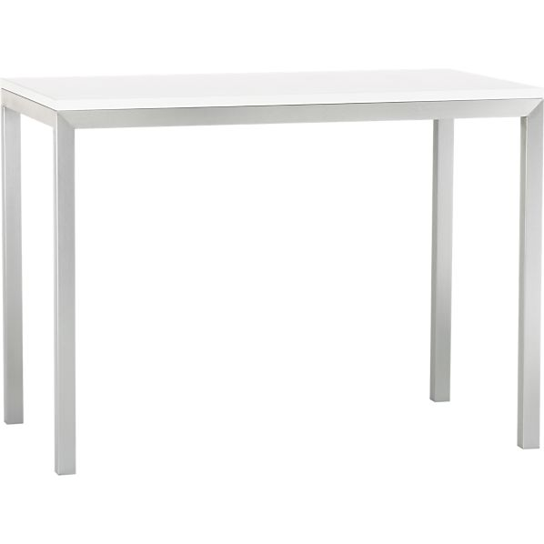 Stainless Steel Base 48x28 Parsons High Dining Table In Dining Tables