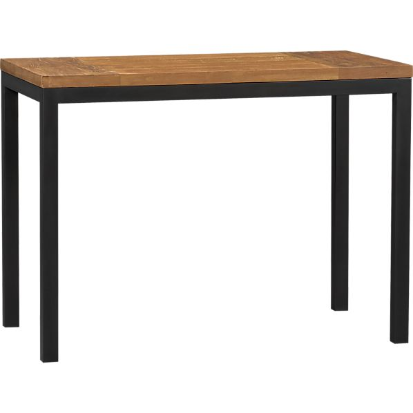 Top Natural Dark Steel Base 48x28 Parsons High Dining Table In Dining