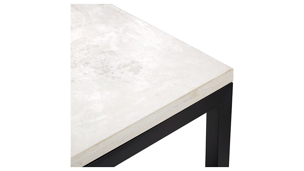 Parsons Rectangular Coffee Table with Travertine Top
