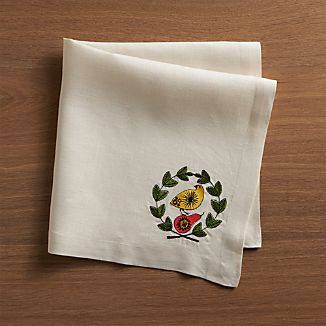 Partridge and Pear Napkin