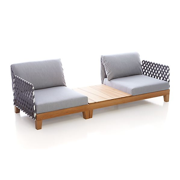 Party 2 Seat Sectional with Coffee Table