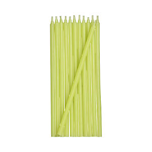 Green Party Candles Set of 12