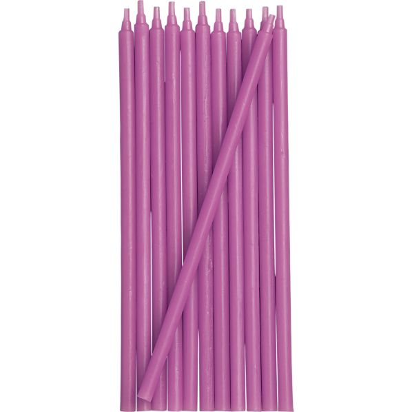 Purple Party Candles Set of 12