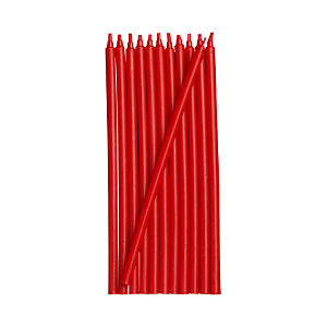 Red Party Candles Set of 12