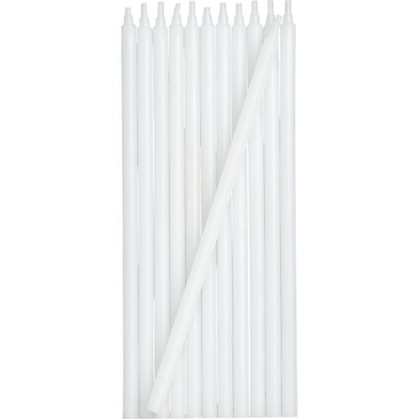 White Party Candles Set of 12