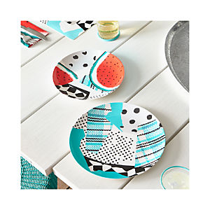Party Collage Melamine Plates