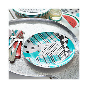 "Party Collage 10.5"" Melamine Plate"