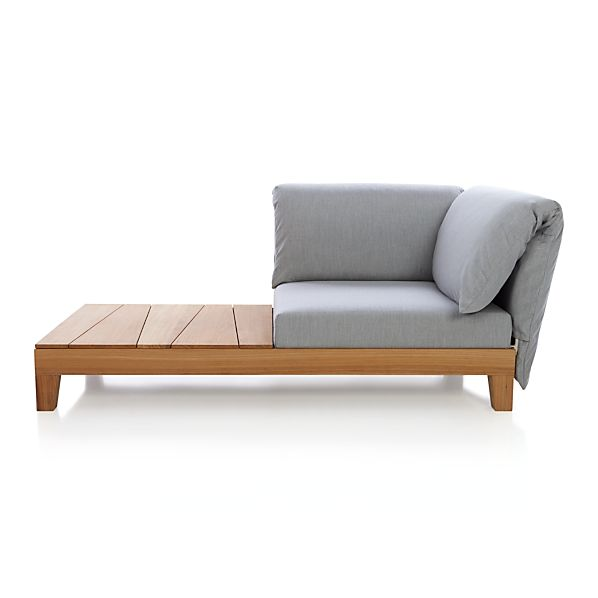 Party Right Arm/Left Arm Chaise with Arm Cushion and Coffee Table