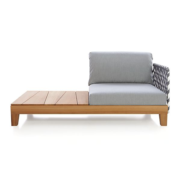Party Right Arm/Left Arm Chaise with Coffee Table