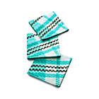 Set of 20 Party Plaid Paper Beverage Napkins.