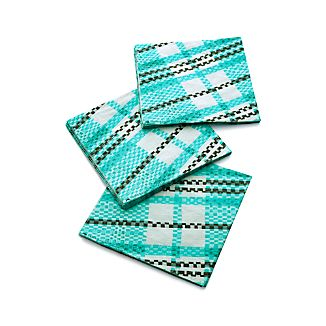 Party Plaid Paper Dinner Napkins Set of 20