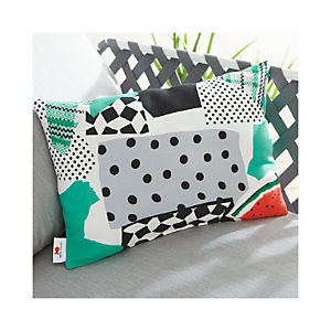 "Party Collage 20""x13"" Outdoor Pillow"