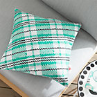 Party Tartan Outdoor Pillow.