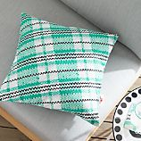 "Party Tartan 20"" sq. Outdoor Pillow"