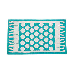 "Party Turquoise Indoor-Outdoor 30""x50"" Rug"